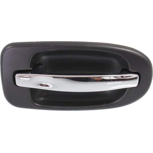 Rear Exterior Door Handle Compatible with CHEVROLET VENTURE 1997-2005 / UPLANDER 2005-2009 RH Sliding Chrome Lever+Primed Bezel