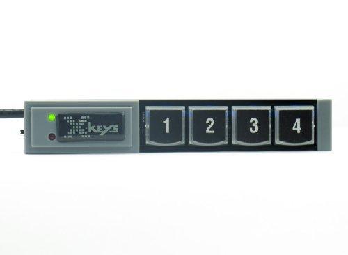 X-keys USB Stick Keys (4 Key) (Function Keys Programmable)