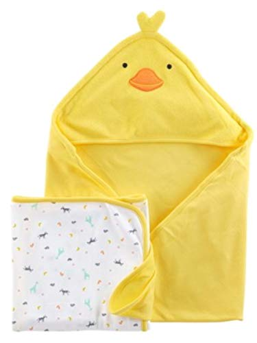 Child of Mine by Carter's Neutral Hooded Towel and Bath Towel Set (Baby Boys or Baby Girls Unisex) (Carters Child Mine)