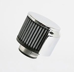 S&B Clamp-On Crankcase Vent Filter w/ Chrome Top & Shield, 3OD x 2.5H - 1
