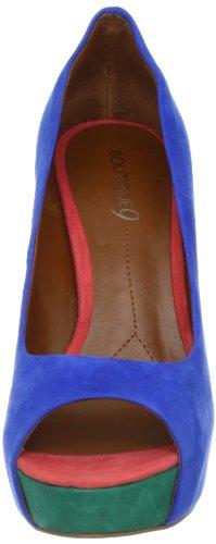 Boutique 9 Claudius - Zapatos de vestir de cuero para mujer Multicolor Blue Mu