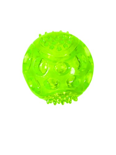 Chase 'n Chomp Durable TRP LED Light Up Fetch Ball Dog Toy, 3