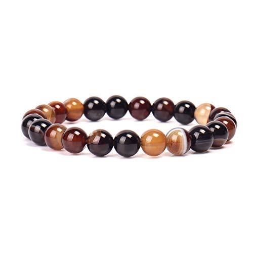 Natural Stone Bracelet Gem Semi Gemstone Bracelets Natural Stones Healing Power Crystal Elastic Round 8mm Ball Beads Stretch Beaded Bracelet 7