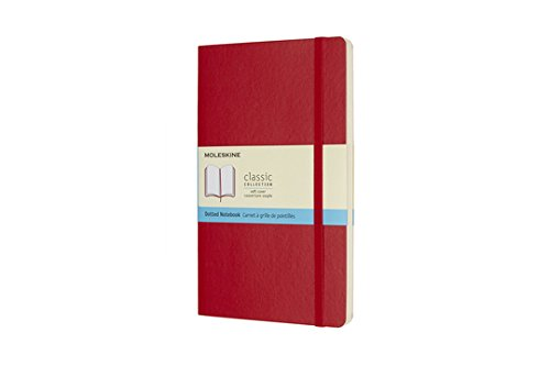 Moleskine Classic Notebook Large Dot Scarlet Red Softcover (8055002854665)