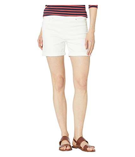 Liverpool Women's Chloe Pull-On Shorts w/Rolled Cuff, Bright White, 4