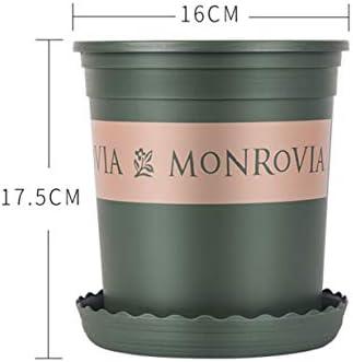 FENGZI 1 Gallone Blumentopf Haushalt Kunststoff Verdicktes Harz Runder Topfbalkon 16 * 17,8 cm