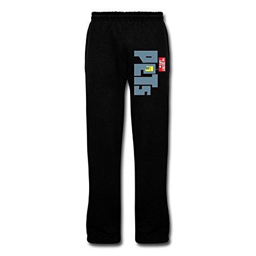 PCY Men's Life of Pets Logo Workout Pants Black Size 3X