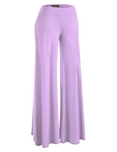 WB1104 Womens Wide Leg Palazzo Lounge Pants M Lilac