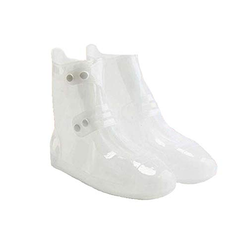 Kids Waterproof Shoe Cover 1 Pair Outdoor Rain Boots Cover for Children Rain Protector, White