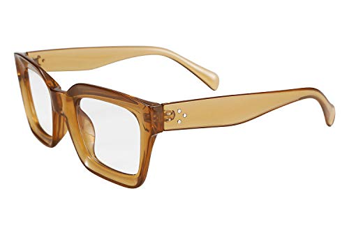 FEISEDY Classic Women Sunglasses Oprah Style Thick Square Frame UV400 ()