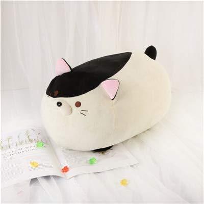 GOOGEE Stuffed Animal - Colorful Soft Animal Cartoon Pillow Cushion Cute Fat Inu Dog Stuffed Cat Plush Toy Stuffed Lovely Kids Birthyday Gift - 20 Inch Black -White Cat - Whale Penguin Lamb
