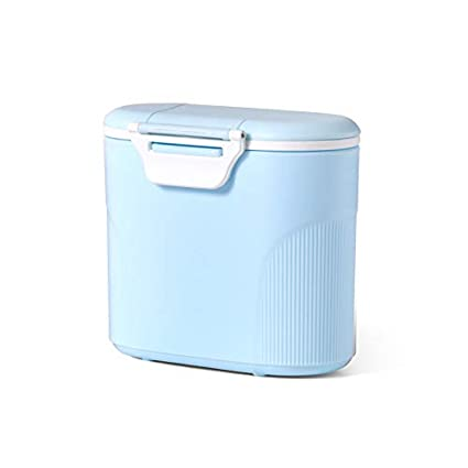Luchild Bebé Portátil en Polvo Stackable Box Dispensador de Fórmula Con Scoop(Azul)
