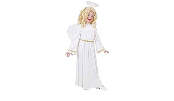 GIRLS CHRISTMAS GOLD ANGEL FAIRY FANCY DRESS NATIVITY COSTUME