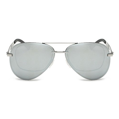LOMOL Mens Fashion UV Protection Aviator Style Polarized Myopia Driving - Style Sunglasses Morpheus