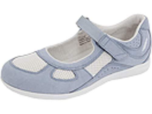 Drew Shoe Women's Delite, Sky Blue/White, 10 W (D) ()