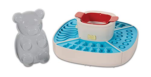 FAO Schwarz Kids Gummy Bears & Worms DIY Electric Candy Maker Kit with 4 Silicone Molds & Ice Setting Trays, Gelatin Warmer & Pourer—Make Gummi Rings, Healthy Vitamins, Sugar Free Gummies, & More!]()