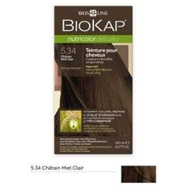 Tinte para cabello Nutricolor Delicato Chtain Miel claro 5.34 ...