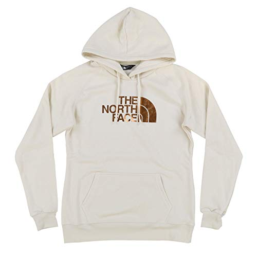 The North Face Womens Half Dome Pullover Hoodie (Large, Holiday Vintage White)