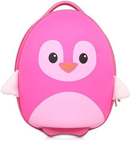 Hugmo Kids Travel Cabin Luggage PINK PENGUIN