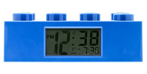 LEGO Kids' 9002151 Blue Brick Light Up Alarm Clock