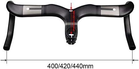 自転車のハンドルバー 炭素繊維自転車ハンドルバーロードバイクハンドルバー31.8ミリメートル防風ハンドル1Kフロスト曲面レバー自転車のハンドルバー MTBサイクリング用の軽量 (色 : グレー, Size : 100mm)