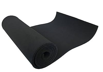 """XCEL 54""""in. Wide x 1'ft. Length x 1/4""""in. Thick Soft/Medium Neoprene Sponge Foam Rubber Sheet, Black"""