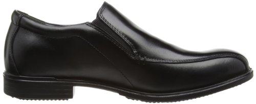 Hush Puppies Vito Slip On_BK - Zapatos sin cordones de cuero hombre Black Leather