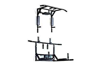 Home Gym Dynamics Pull Up Bar, Dips Bar, Push Up Bar Wall Removable Model