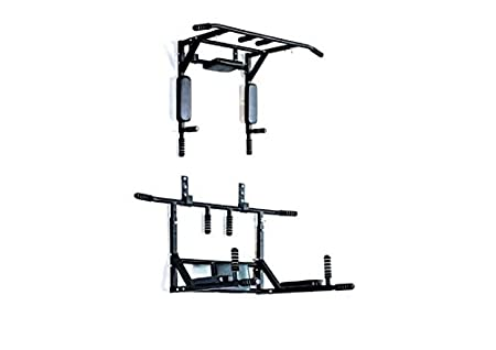Home Gym Dynamics Pull Up Bar, Dips Bar, Push Up Bar Wall Removable Model Strength Training Equipment at amazon