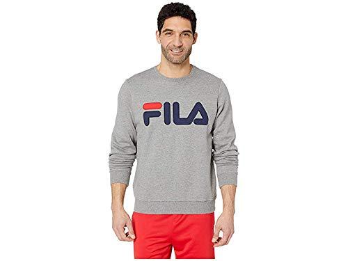 (Fila Men's Regola Sweatshirt Varsity Heather/Navy/Chinese Red X-Large)