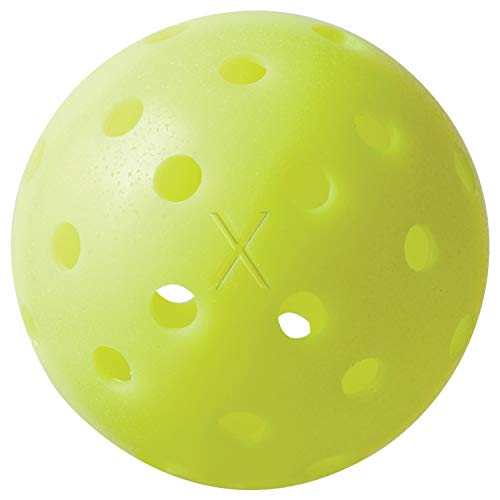 Franklin Sports X-40 Pickleballs - Outdoor Pickleballs- 100 Pack Bulk - USAPA Approved - Optic