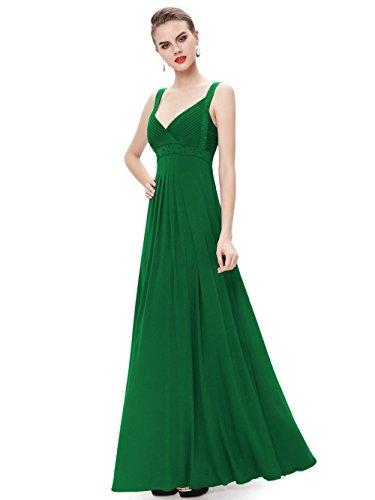 Engerla - Vestido - trapecio - Básico - Sin mangas - para mujer Verde