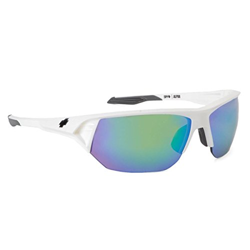 Spy Optic Alpha 672061632148 Wrap Sunglasses,White Frame/Bronze Green Spectra Lens,One - Frames Glasses Alpha