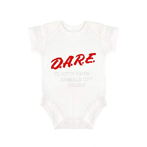 Dare to Keep Kids Off Drugs Happy Baby, Baby Sleeveless Cotton Tights, Cute Print Design. White