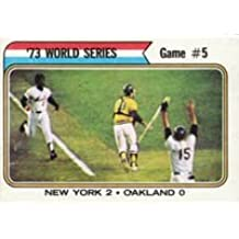 1974 Topps Regular (Baseball) card#476 W.S.Game 5 Yankees 2 - A's 0 of the - Undefined - Grade Very Good