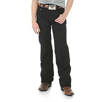 Wrangler Boys' Retro Slim Fit Straight Leg Jean, Black, 2T Slim