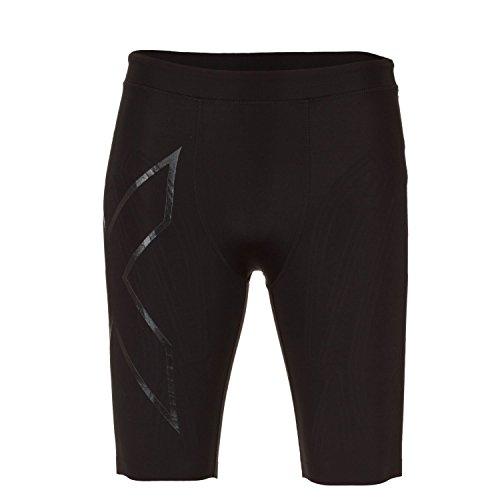 2XU Men's XTRM Compression Shorts, Black/Black, Small by 2XU