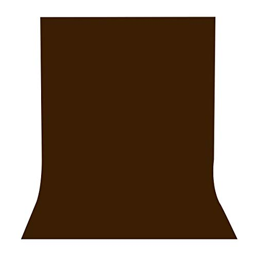 (LYLYCTY 5x7ft Photography Studio Non-Woven Backdrop Coffee Color Backdrop Solid Color Backdrop Simple Background LY089)
