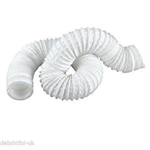 Blanco ventilador conducto Flexible – 6 M largo ventilador Extractor manguera tubo – 15,24 cm 150 mm de diámetro