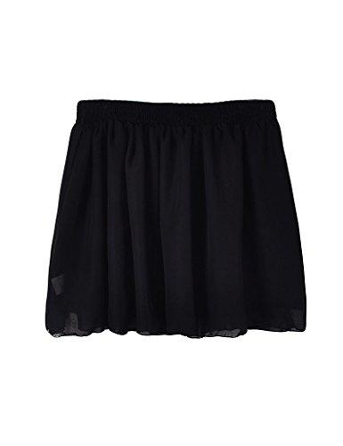 Jupe femme Noir Jueshanzj midi et lastique taille fq4nS6Uw