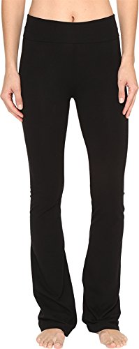 Hard Tail Rolldown Bootleg Flare Pants Black MD