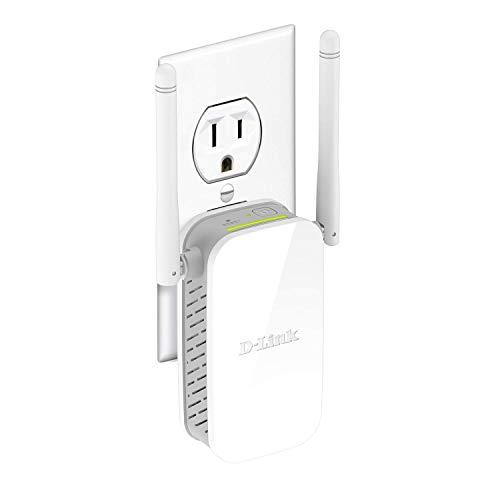 D-Link Wireless AC1200 Dual Band WiFi Adaptador de Cable, N300 Extensor de Rango, Blanco