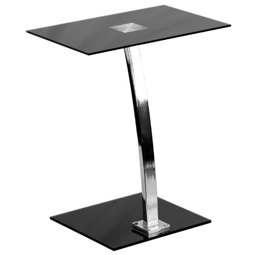 Laptop Computer Desk with Silk Black Tempered Glass Top by Flash Furniture B00BK31QIG