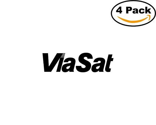 Viasat 1 4 Stickers 4X4 Inches Car Bumper Window Sticker Decal