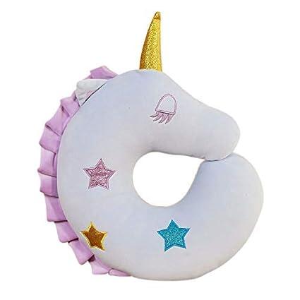 Unicornio Almohada de Viaje para niños, Almohada Suave de ...
