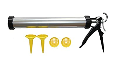 EcBy TECH 23 oz Manual Sausage Pack Gun?Caulking Gun with Aluminum Barrel 1/10-Gallon Cartridge Capacity?24?1 Thrust Ratio