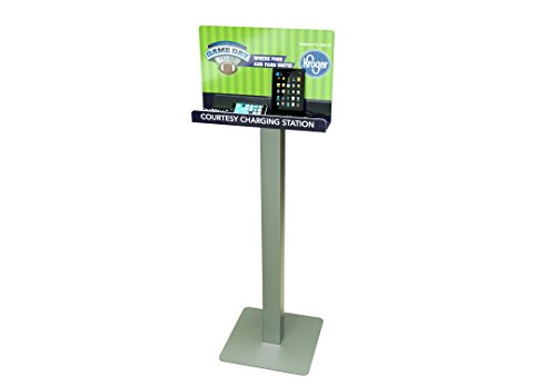 Floor Stand Customizable Cell Phone Charging Station Kiosk Tower Dock KwikBoost | Made in The USA | Multi-Device High Speed Cables 8 Devices, Universal Compatibility, M8 -
