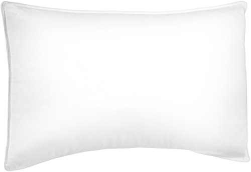 Pinzon Shed-Resistant White Duck Down Pillow - Medium Density, King (2 Chamber Pillow Top)