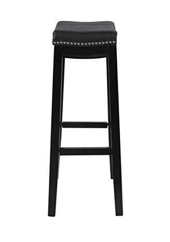 Linon Claridge Bar, Black Stool, 32 X 18.75 X 13