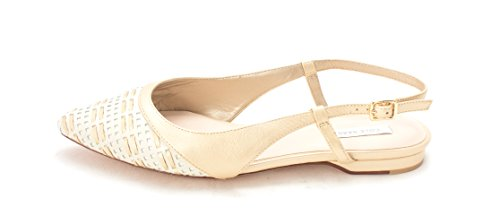 Pointed Slingback Womens Cole Toe 14A4071 Soft White Ivory Gold Slingback Flats Haan af4Tnxx6